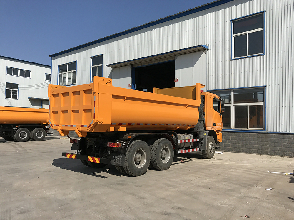 Dump truck loading products