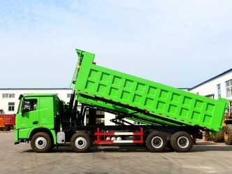 Use of dump semi-trailer